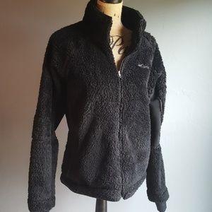 Columbia Fuzzy Fleece Winter Jacket Coat